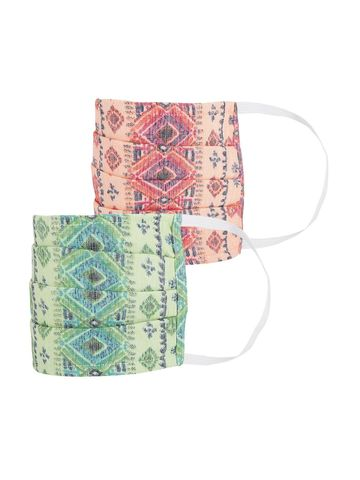 Fabnest | Fabnest Womens Multicolour Printed Face Masks Pack Of 2