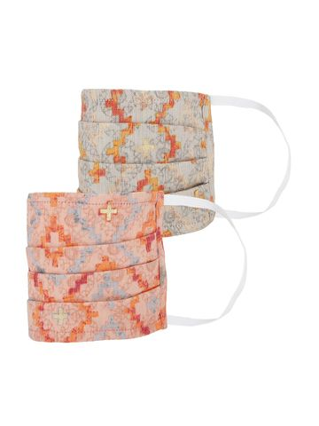 Fabnest   Fabnest Womens Multicolour Printed Face Masks Pack Of 2