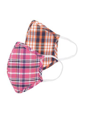 Fabnest   Fabnest Womens Multicolour stripe Face Masks Pack Of 2