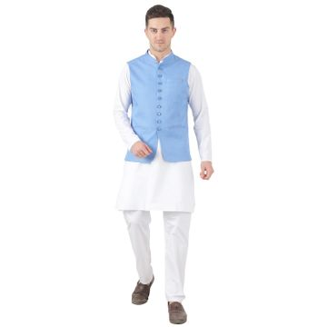 TAHVO | TAHVO men 9 button nehru jacket kurta set