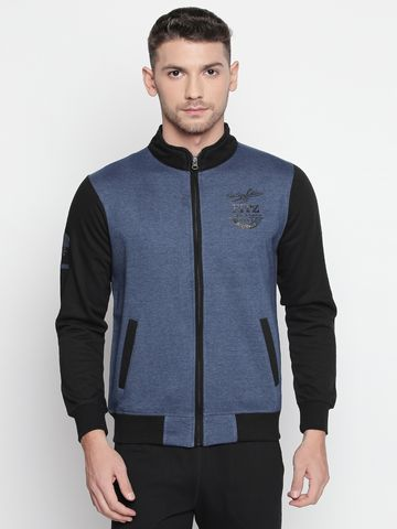FITZ | Blue Solid Sweatshirt