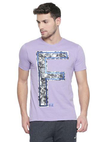 FITZ | Purple Printed Polo Tshirt