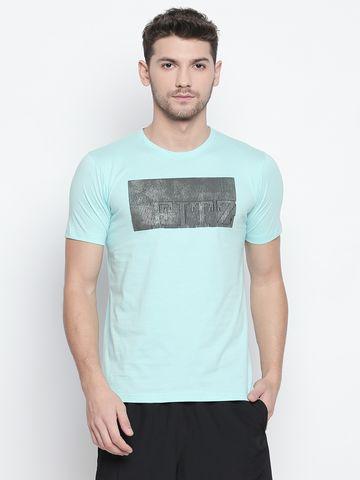 FITZ | Light Blue Printed Polo Tshirt