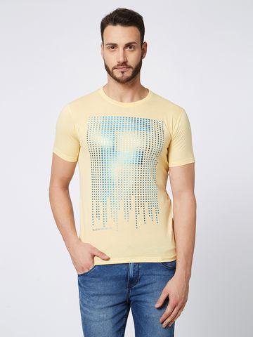 FITZ | Yellow Printed Polo Tshirt
