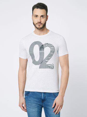 FITZ | White Typographic Polo Tshirt