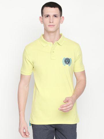 FITZ | Yellow Solid Polo Tshirt