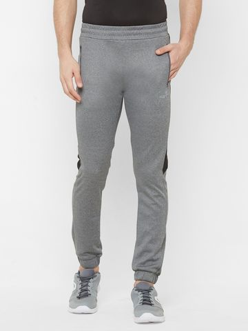 FITZ | Fitz Polyester Grey Activewear Joggers Track Pants For Mens.