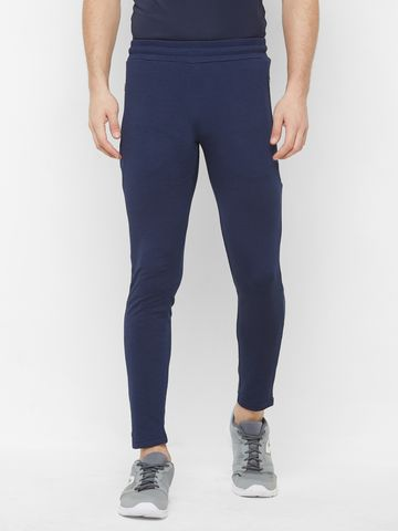 FITZ | Fitz Polyester Blue Activewear Trackpant For Mens