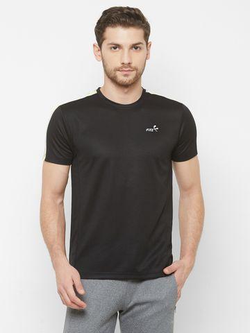 FITZ | Black Solid Tshirt