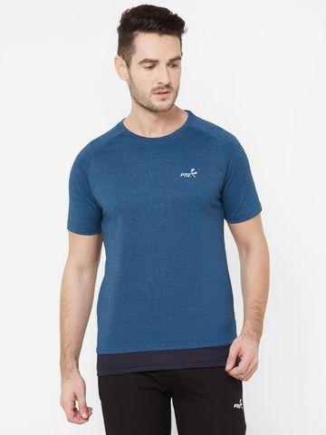FITZ | Navy Blue Solid Tshirt