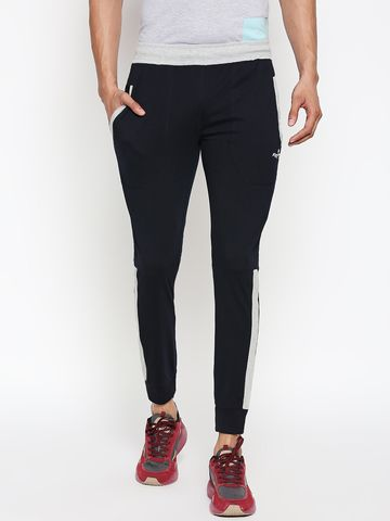 FITZ | navy blue side taped jogger