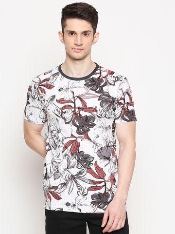 FITZ | Fitz Cotton Round Neck Printed T-Shirt For Men