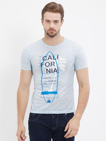 FITZ | Blue Melange Polo Tshirt