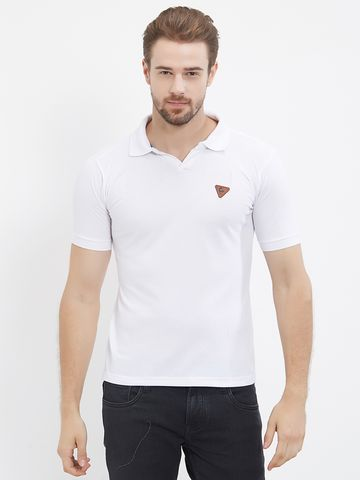 FITZ | White Solid Polo Tshirt