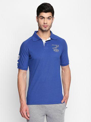 FITZ | Blue Solid Polo Tshirt