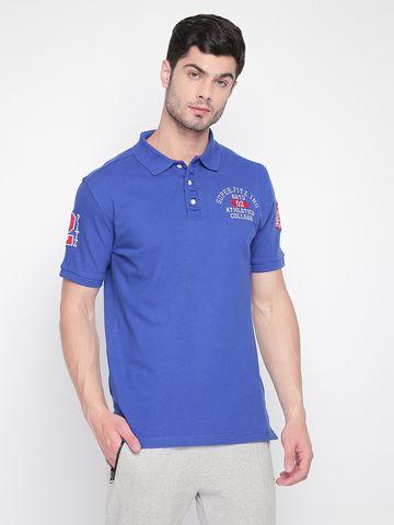FITZ | Blue Printed Polo Tshirt