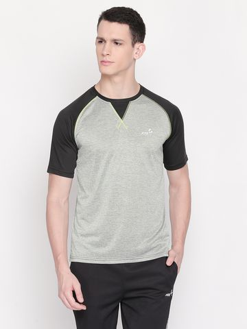 FITZ | Grey Color Block Polo Tshirt