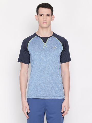 FITZ | Blue Color Block Polo Tshirt