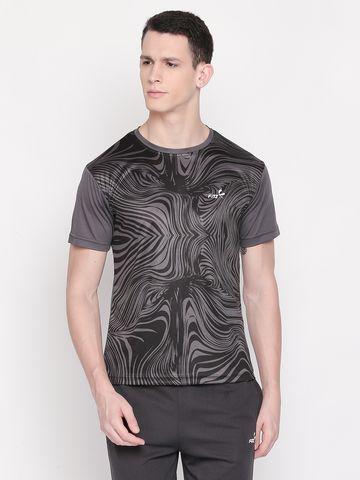 FITZ | Grey Printed Polo Tshirt