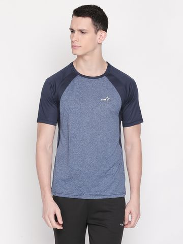 FITZ | Blue Color Block Polo Tshirt