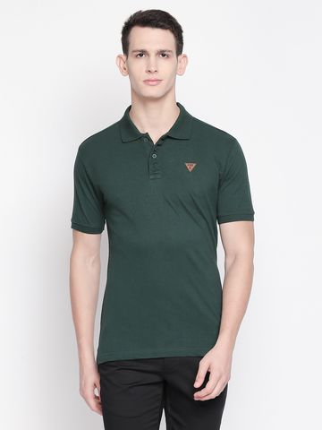 FITZ | Green Solid Polo Tshirt