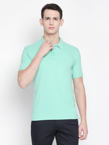 FITZ | Light Blue Solid Polo Tshirt