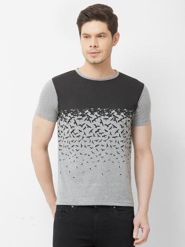 FITZ | Grey Printed Polo Tshirt