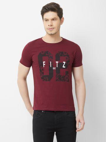 FITZ | Maroon Typographic Polo Tshirt