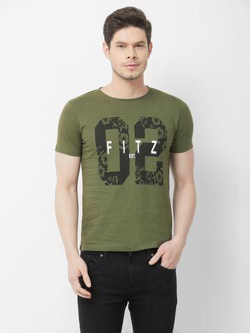 FITZ | Olive Green Typographic Polo Tshirt