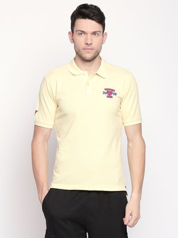FITZ | Yellow Solid Polo Tshirt