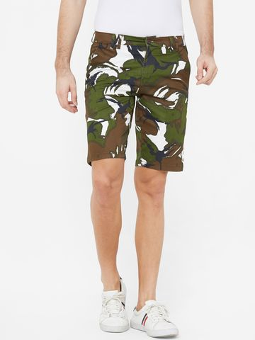 FITZ | Fitz Cotton Camouflage Print Shorts For Mens
