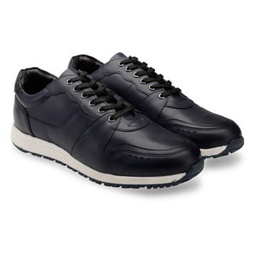 Hats Off Accessories | Hats Off Accessories Genuine Leather Navy Tranier  Sneakers