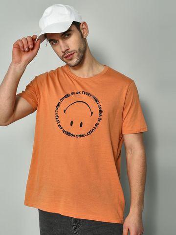 Blue Saint   Blue Saint Men's Brown Regular Fit T-Shirts