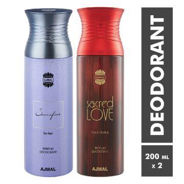 Ajmal | Sacrifice For Her and Sacred Love Deodorant Spray - Pack of 2