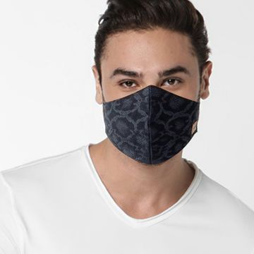 GAS | GAS printed denim blue mask