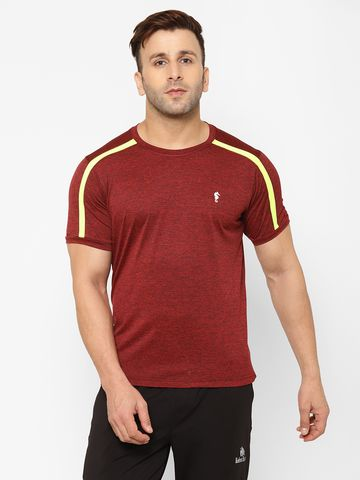 Eppe | EPPE Men's Round Neck Maroon Super Soft Micro Polyester Half Sleeves Sports Casual T-Shirt