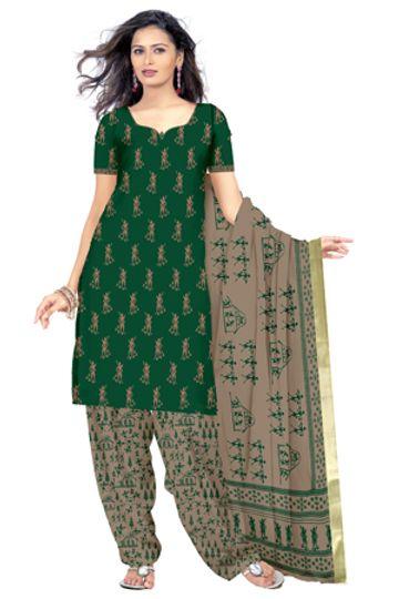 GF's | GF's Designer Salwar Suits & Dress Materials for Women with Village Warli Printed Soft Cotton