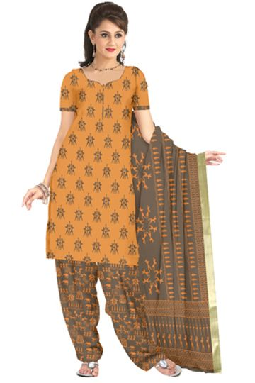 GF's | GF's Designer Salwar Suits & Dress Materials for Women with Village Warli Printed Soft Cotton