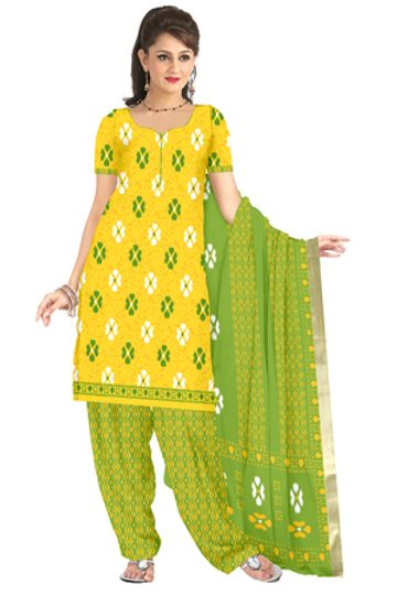 GF's | GF's Soft Cotton Designer Ikkat Printed Salwar Suit & Dress Material for Women