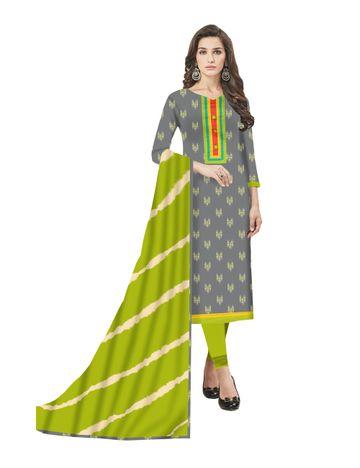 GF's | GF's Beautiful Pure Cotton Ikkat Printed Salwar Suit & Dress Material for Women