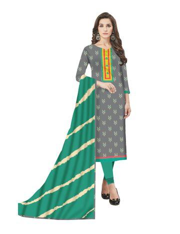 GF's   GF's Beautiful Pure Cotton Ikkat Printed Salwar Suit & Dress Material for Women