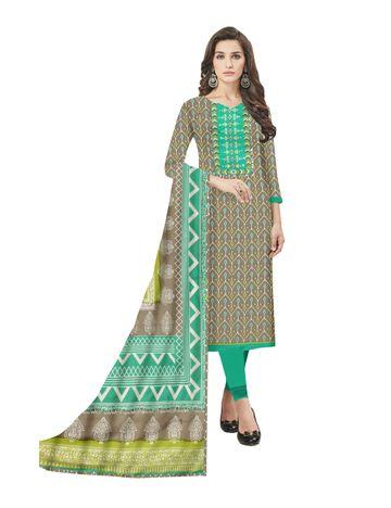 GF's   GF's Designer Soft Cotton With Heavy Neck Patchwork, Cotton Dupatta Suits & Dress Materials for Women