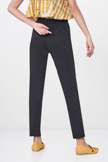 Global Desi | Black Stretch Slim Fit Pants