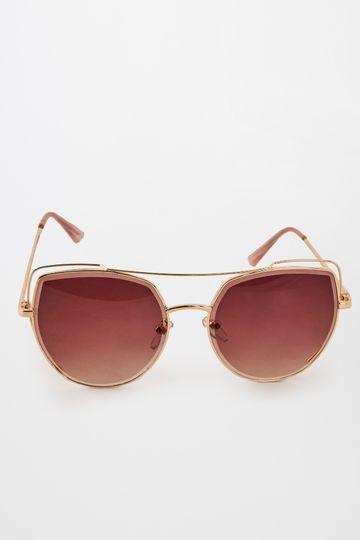 Global Desi | Purple Uneven Lens Sunglasses