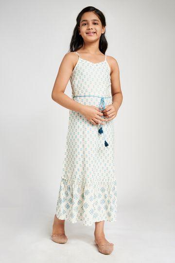 Global Desi | White Maxi Dress