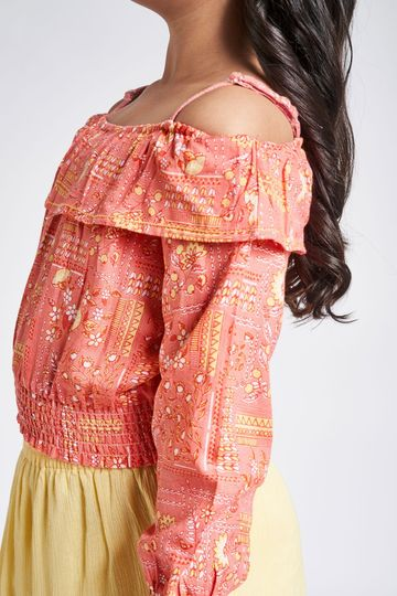 Global Desi | Coral Top