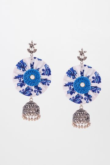 Global Desi   Blue Earrings