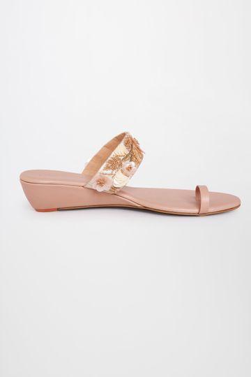 Global Desi | Peach Ethnic Sandals