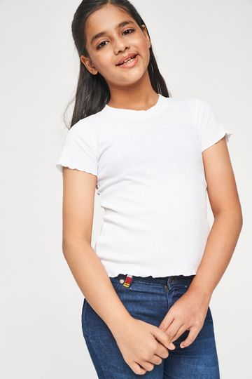 Global Desi | White Solid Top