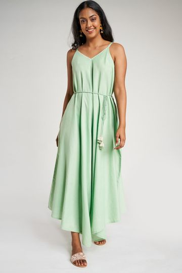Global Desi | Mint Solid Embroidered Jumpsuit